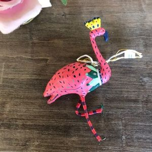 Anthropologie pink flamingo ornament .💓